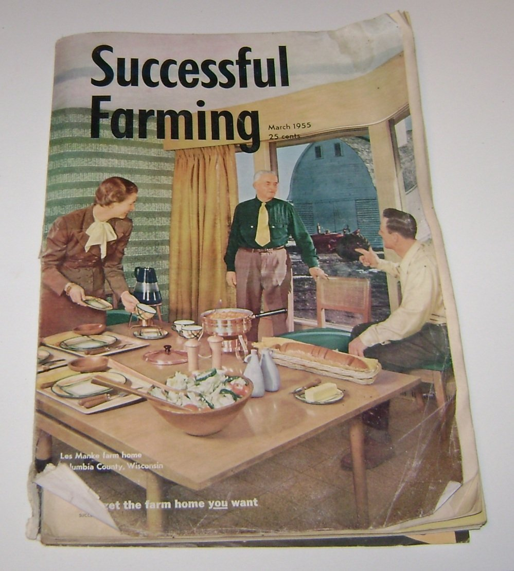 Successful Farming March 1955 Les Manke Farm Columbia County Wisconsin