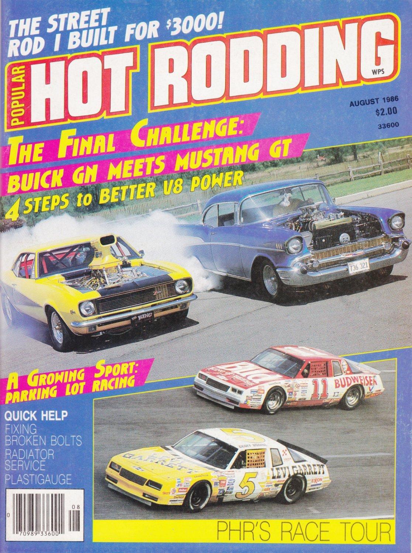 Hot Rodding Magazine Buick GN VS Mustang GT Aug-1986