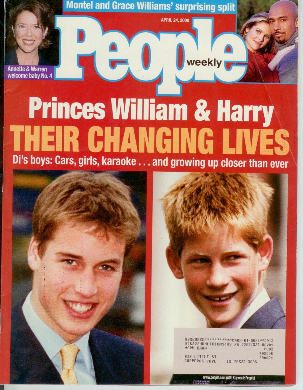 People Mag Prince William & Prince Harry Feature april-24 2000