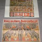 2 Posters Ringling Bros & Barnum & Bailey reprints