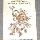 Archeological Map of Middle America National Geograhic Mayan Aztec
