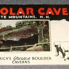 1959 Brochure Polar Caves White Mountains NH