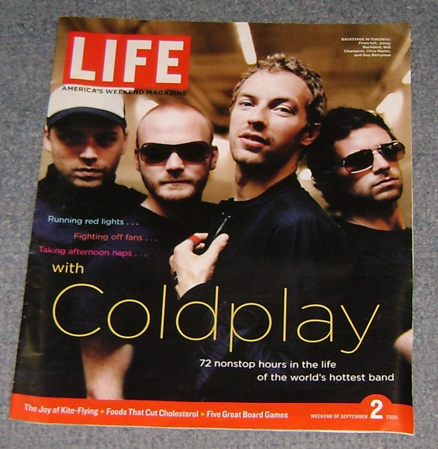 Life weekend mag newspaper insert featuring COLDPLAY