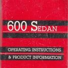 1986 Dodge 600 Sedan owners manual