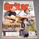 Guitar One Magazine  Tenacious D Tribute October 2002