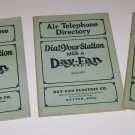 3 Air Telephone Directory Day- Fan Electric radio directories 1926 - 27