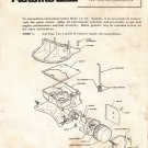 Autolite Ford model 2100-A two venturi carburetor tune-up instructions