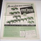 John Deere Two Cyinder ad from 1940 magazine