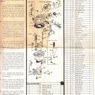 Carburetor instruction sheet Rochester model B BC BV - 1 barrel - 1 barrel
