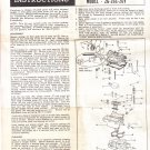 Service instructions for Rochester Carburetor Moel 2G 2GC 2GV