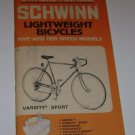 Schwinn Lightwieght Bicycles Varsity Sport owners manual