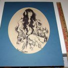 Rusalka art sketch by Michael Allen 1983  signed