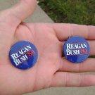 (2) Reagan Bush 1984 campaign buttons