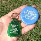(2) Elmers Oil Weston Nebraska coin purse & key chain