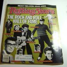 Rolling Stone Magazine Issue # 467 1986 Rock Hall of Fame cover Ricky Nelson