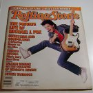 Rolling Stone Magazine Issue # 495 1987 Michael J Fox cover