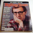 Rolling Stone Magazine Issue # 497 1987 Woody Allen cover