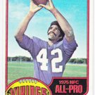 Topps 1976 John Gilliam Minnesota Vikings 1975 All Pro Card