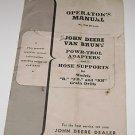 """John Deere Van Brunt Grain Drill Manual """"B"""" """"FB"""" """"RB"""""""
