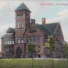 Vintage Postcard Menominee Michigan High School