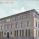 Vintage Postcard Public Library Omaha Nebraska 1908