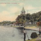 Vintage Postcard Scene Douglas Park Chicago ILL 1909