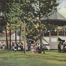 Vintage Postcard Band Stand Lakeside Park Marinette Wisconsin 1909
