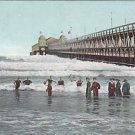 Vintage Postcard New Pier & Sun Pavillion Long Beach California 1909