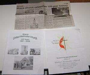 Ithaca Nebraska United Methodist Church 125th year memoribilia