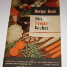 Instruction and Recipe Book New Presto Cooker for Model 204 206