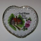 "Sonsco "" God Bless Our Home "" Hanging Heart Dish"