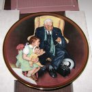 "Knowles China Co "" Tender Loving Care "" Norman Rockwell Plate 1988"