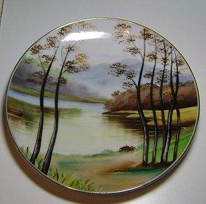 "Japan "" Handpainted "" Decorative Scene Plate"