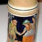 "Vintage German Stein 1/2 LT "" Hunter greeting Girl Fraulein """