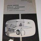 John Deere Straw Spreader Manual for 3300 &  4400 Combines