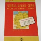Vintage Shell map of Germany Roads & Principal Sights