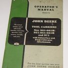 John Deere Operators Manual Tool carriers 901-901H 921-951-951H & 971
