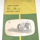 John Deere Operators Manual Model 12 & 14 series rotary hoes