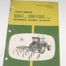 John Deere Operators Manual 1001 & 1001 IRC Integral Chisel Plows
