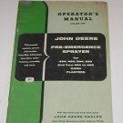 John Deere Operators Manual pre-emergence sprayer corn planters 494 495 394 +