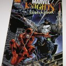 Wizard Special Edition Marvel Knights Sketchbook 1988 Daredevil Black Panther