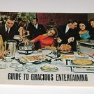 General Electric Guide to Gracious Entertaining 1963