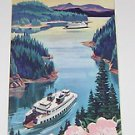 Ferry Cruises Puget Sound Scenic Guide & Map 1960's