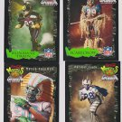 (4) Coca Cola Monsters of the Gridiron Football Cards