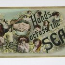 "Vintage Postcard ""Hands Across The Sea"" Pictures of Girls"