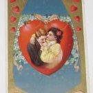 "Vintage Postcard  ""Valentine"" Man Kissing Womans Hand"