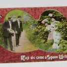 """Vintage Postcard  """"May We Come & Spoon With You""""  My Heart"""