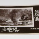 """Vintage Postcard  """"To The Rescue"""" Ships on stormy sea"""