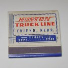 Vintage Matchbook Ad Houston Truck Line Friend Nebraska