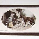 "Vintage Postcard ""The Favorite Meet"" Man & Woman Horse & Dogs"